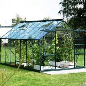12 x 8 Vitavia Jupiter 9900 Green Apex Greenhouse