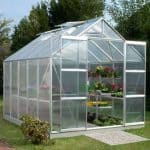 12 x 8 Vitavia Jupiter 9900 Silver Apex Greenhouse