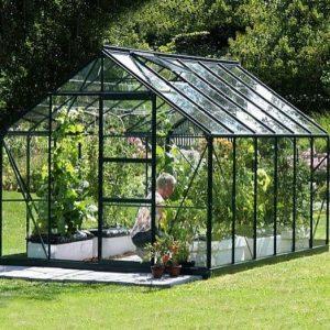 12 x 8 Vitavia Neptune 9900 Green Apex Greenhouse