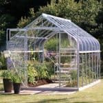 12 x 8 Vitavia Saturn 9900 Silver Apex Greenhouse