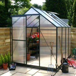 12 x 8 Waltons Green Extra Tall Polycarbonate Greenhouse