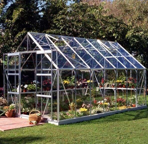 14 x 8 Halls Silver Aluminium Magnum Greenhouse with Vent