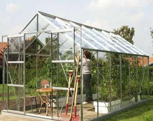 14 x 8 Vitavia Jupiter 11500 Green Apex Greenhouse