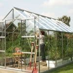 14 x 8 Vitavia Jupiter 11500 Silver Apex Greenhouse