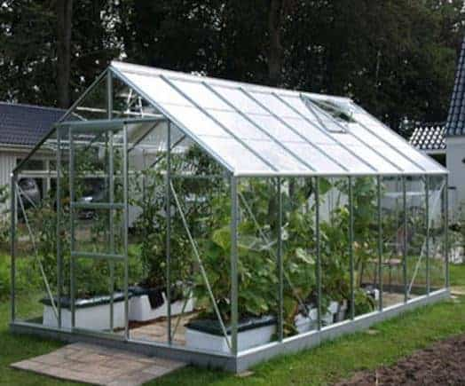 14 X 8 Vitavia Neptune 11500 Silver Apex Greenhouse What