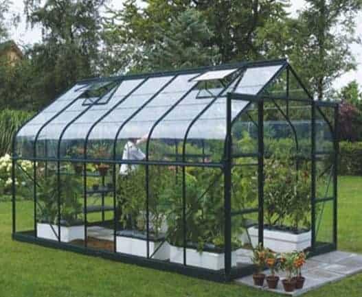 14 x 8 Vitavia Saturn 11500 Green Apex Greenhouse