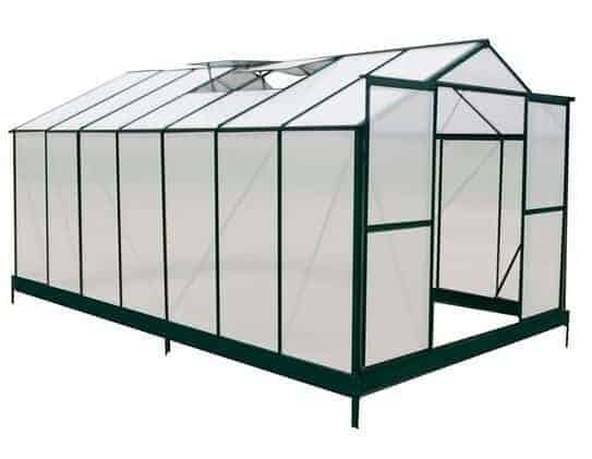 14 x 8 Waltons Green Extra Tall Polycarbonate Greenhouse