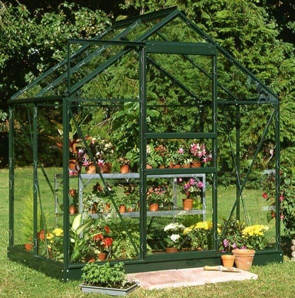 4 x 6 Halls Green Aluminium Popular Greenhouse with Vent