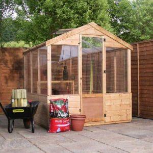4 x 6 Waltons Evesham Wooden Greenhouse