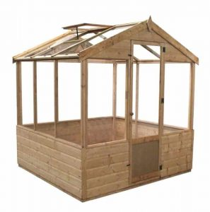 4 x 6 Waltons Evesham Wooden Greenhouse Overall View