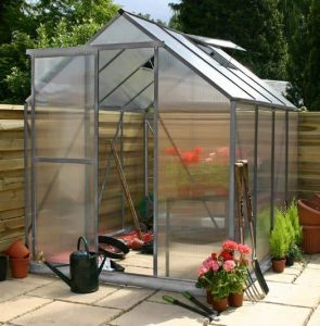 4 x 6 Waltons Silver Extra Tall Polycarbonate Greenhouse