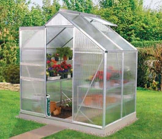 6 x 4 Vitavia Venus 2500 Silver Apex Greenhouse