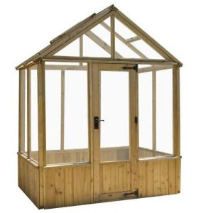 6 x 4 Waltons Pressure Treated Wooden Greenhouse Styene Glazing