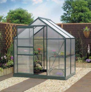6 x 6 Gardman Polycarbonate Greenhouse