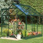 6 x 6 Halls Green Aluminium Popular Greenhouse with Vent