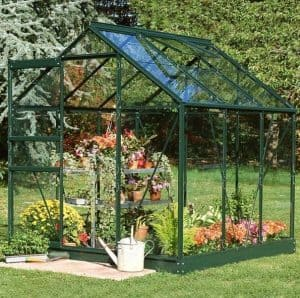 6 x 6 Halls Green Aluminium Popular Greenhouse with Vent