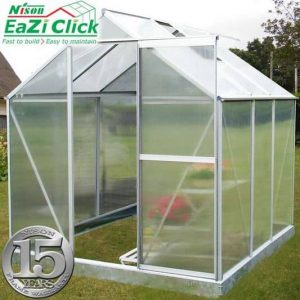 6' x 6' Nison EaZi-Click Silver Polycarbonate Greenhouse