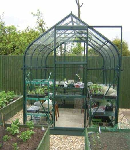 6 x 6 Vitavia Orion 3800 Green Apex Greenhouse