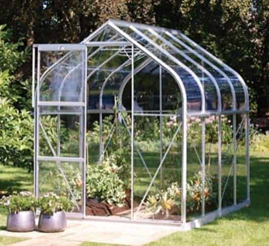 6 x 6 Vitavia Orion 3800 Silver Apex Greenhouse