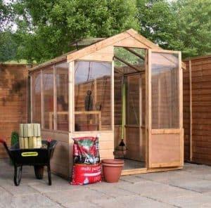 6 x 6 Waltons Evesham Wooden Greenhouse