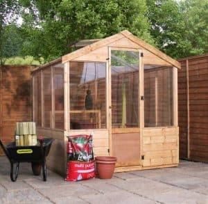 6 x 6 Waltons Evesham Wooden Greenhouse Overall View