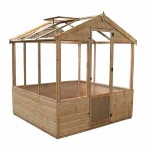 6 x 6 Waltons Evesham Wooden Greenhouse Side View