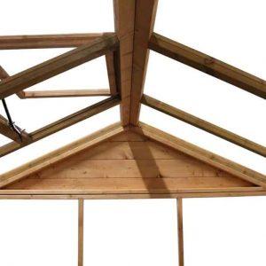 6 x 6 Waltons Evesham Wooden Greenhouse Styrene Glazing Roof