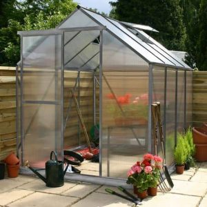 6 x 6 Waltons Silver Extra Tall Polycarbonate Greenhouse