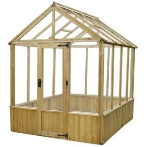 6 x 8 Waltons Pressure Treated Wooden Greenhouse Unpainted