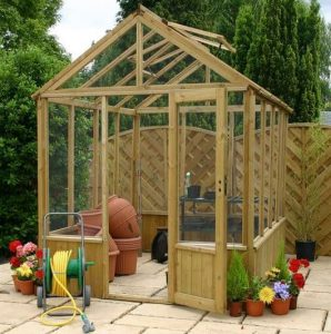 8 x 10 Waltons Pressure Treated Wooden Greenhouse