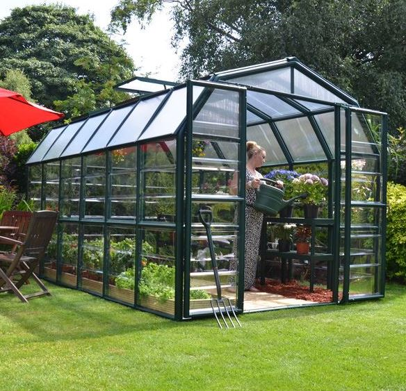 8 x 12 Rion Grand Gardener Polycarbonate Greenhouse - What Shed