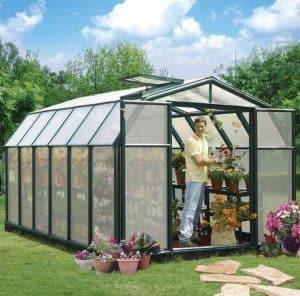 8 x 12 Rion Hobby Gardener Polycarbonate Greenhouse
