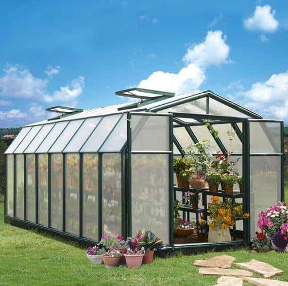 8 x 16 Rion Hobby Gardener Polycarbonate Greenhouse