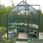 8 x 6 Vitavia Orion 5000 Green Apex Greenhouse
