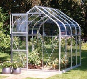 8 x 6 Vitavia Orion 5000 Silver Apex Greenhouse