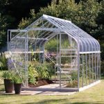 8 x 6 Vitavia Saturn 5000 Silver Apex Greenhouse