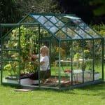 8 x 6 Vitavia Venus 5000 Green Apex Greenhouse