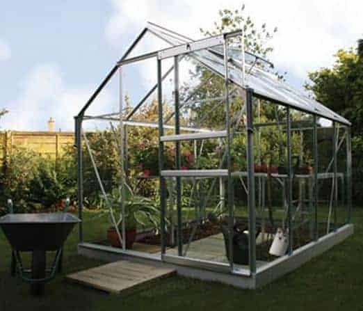 8 x 6 Vitavia Venus 5000 Silver Apex Greenhouse