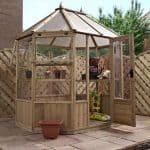 8 x 6 Waltons Octagonal Wooden Greenhouse