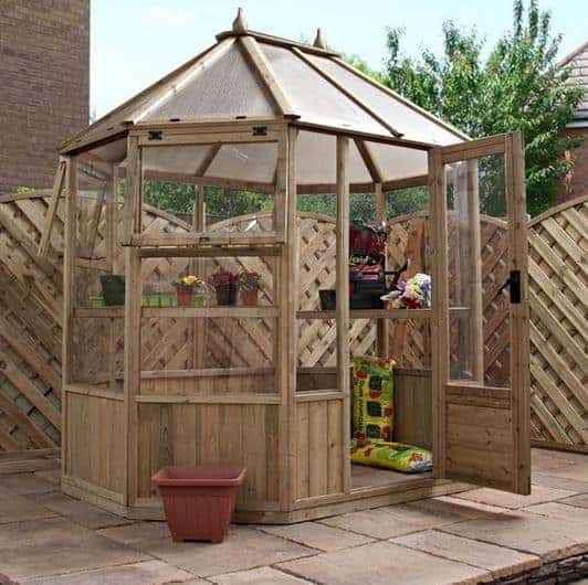 8 x 6 waltons octagonal wooden greenhouse what shed