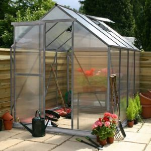 8 x 6 Waltons Silver Extra Tall Polycarbonate Greenhouse