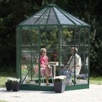 8 x 7 Vitavia Hera 4500 Green Glass Greenhouse