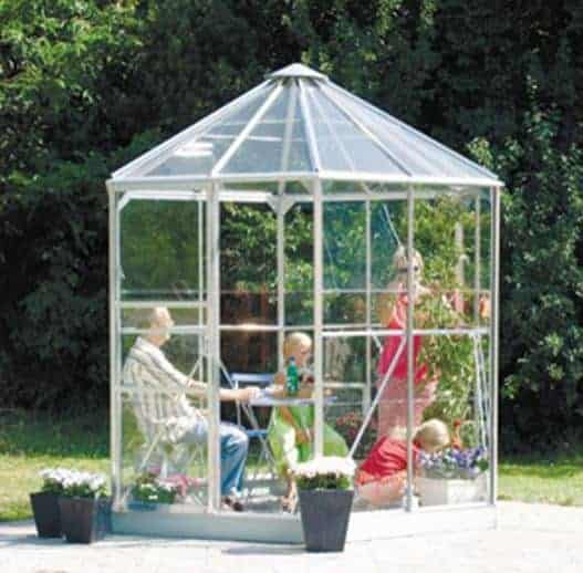 8 x 7 Vitavia Hera 4500 Silver Glass Greenhouse