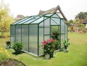 8' x 8' Nison Green Polycarbonate Greenhouse