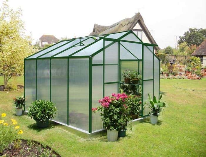 8' x 8' Nison Green Polycarbonate Greenhouse