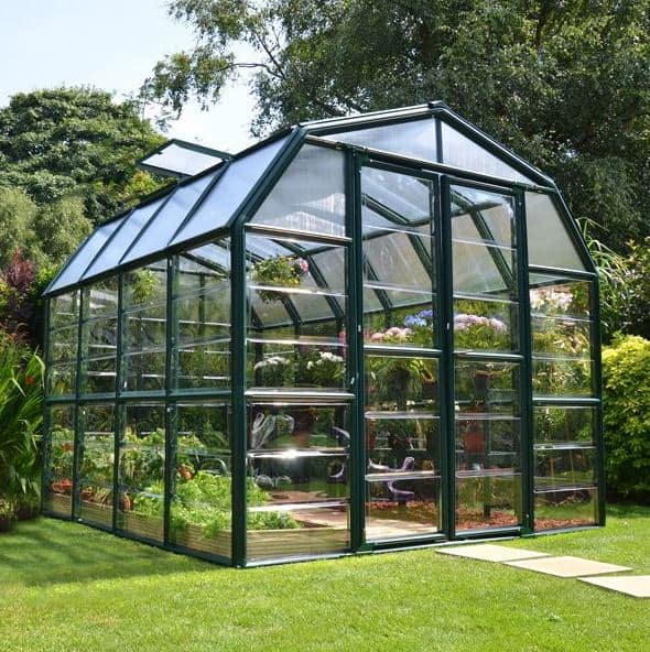 8 x 8 Rion Grand Gardener Polycarbonate Greenhouse - What Shed