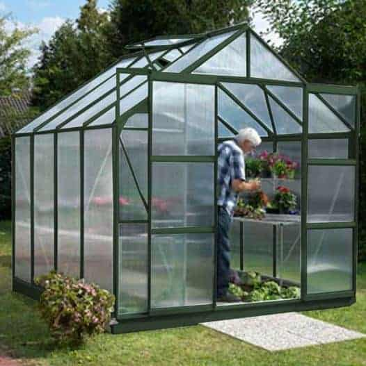 8 x 8 Vitavia Jupiter 6700 Green Apex Greenhouse
