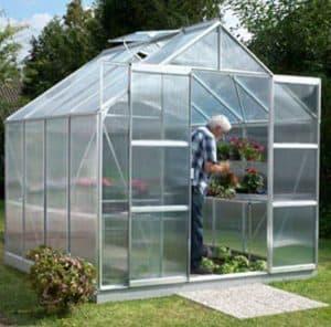 8 x 8 Vitavia Jupiter 6700 Silver Apex Greenhouse
