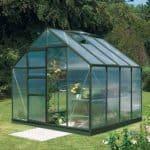 8 x 8 Vitavia Neptune 6700 Green Apex Greenhouse