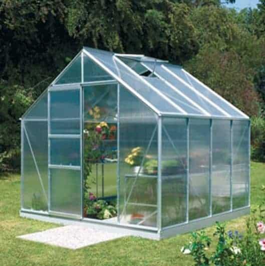 8 x 8 Vitavia Neptune 6700 Silver Apex Greenhouse
